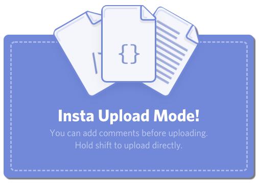 Insta Upload Mode